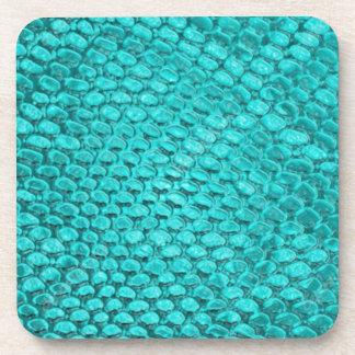 Reptile Turquoise Blue Coaster