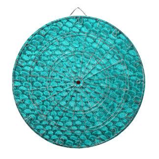 Reptile Turquoise Blue Dartboard