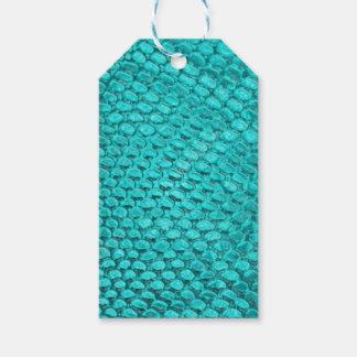 Reptile Turquoise Blue Gift Tags