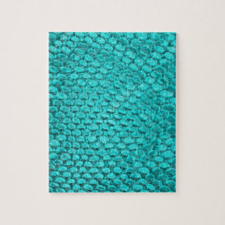 Reptile Turquoise Blue Jigsaw Puzzle