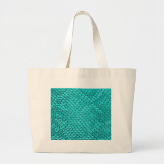 Reptile Turquoise Blue Large Tote Bag