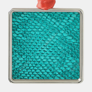 Reptile Turquoise Blue Metal Ornament