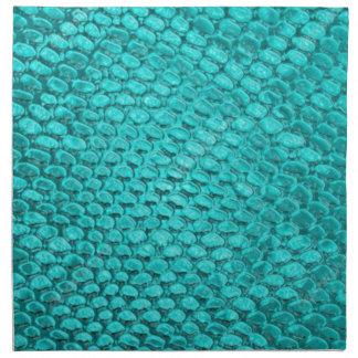 Reptile Turquoise Blue Napkin