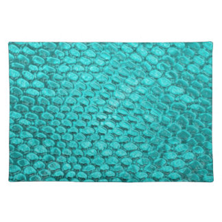 Reptile Turquoise Blue Placemat