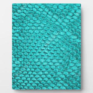 Reptile Turquoise Blue Plaque