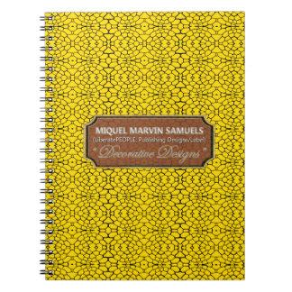 Reptiles Decorative Yellow Black Modern Notebook