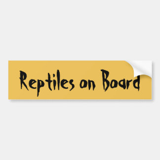 Reptiles on Board Bumper Sticker