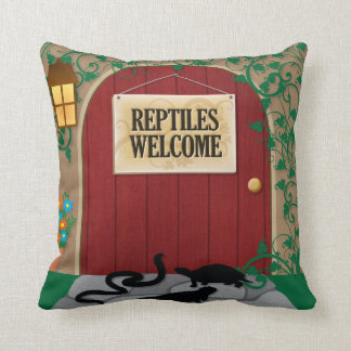 Reptiles Welcome Throw Pillow