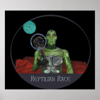 Reptilian alien race poster