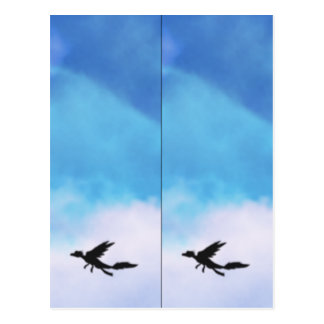 Reptilian Bird Dragon and Clouds Bookmarks Post Card