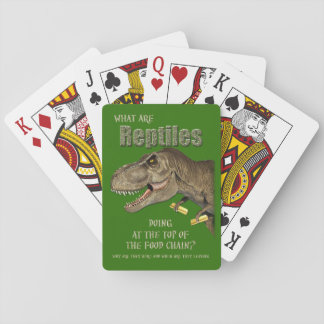 Reptilian Control Playing Cards