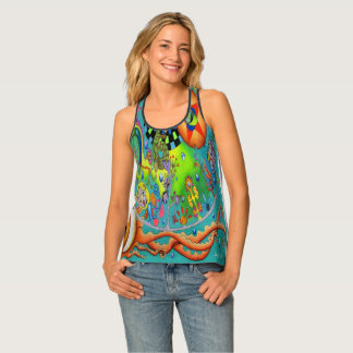 """Reptilian Ocean"" All-Over Print Racerback Tank"