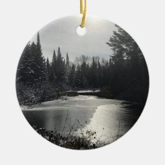 Republic, MI Winter Landscape Ornament