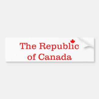 Republic of Canada Bumper Sticker