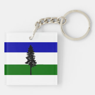 Republic of Cascadia Flag Key Chain