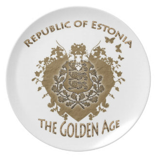 Republic Of Estonia Plate! Plate