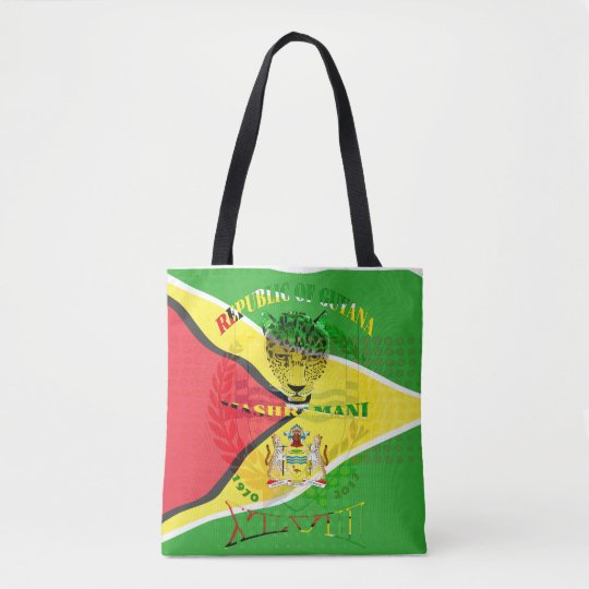 Republic of Guyana 47th Mashramani  Anniversary Tote Bag