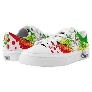Republic of Guyana, Happy 50th Independence Annive Low-Top Sneakers