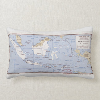 Republic of Indonesia and Portuguese Timor (1962) Lumbar Pillow