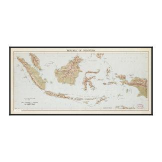 Republic of Indonesia Map (1957) Canvas Print