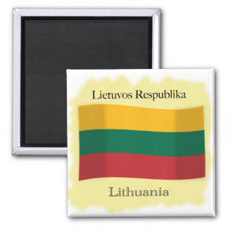 Republic of Lithuania Flag Magnet