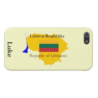 Republic of Lithuania Map and Flag Cover For iPhone 5/5S