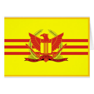 Republic of South Vietnam Military Forces Flag Greeting Card