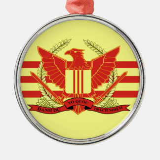 Republic of South Vietnam Military Forces Flag Silver-Colored Round Ornament