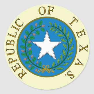 Republic of Texas Classic Round Sticker