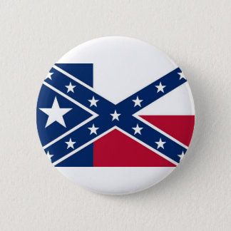 Republic of Texas Flag 2 Inch Round Button