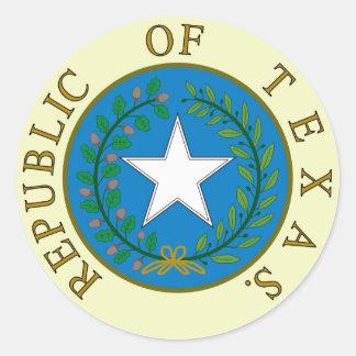 Republic of Texas Round Sticker
