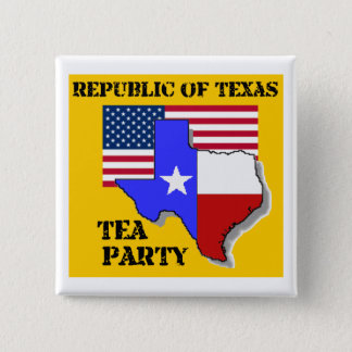 Republic of Texas Tea Party-yellow 2 Inch Square Button