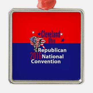 Republican 2016 Convention Silver-Colored Square Ornament