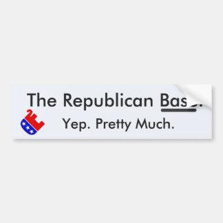 Republican Base Bumper Sticker
