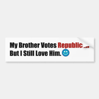 Republican Brother Bumper Sticker