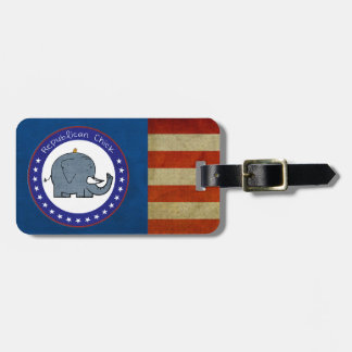 republican chick luggage tag