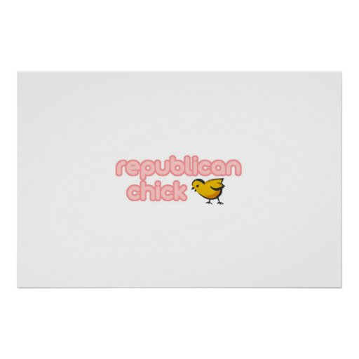 Republican Chick Print