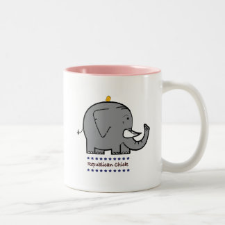 republican chick Two-Tone coffee mug