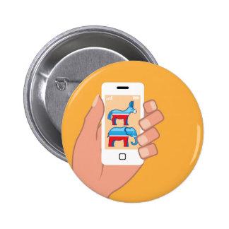 Republican Democrat Smartphone 2 Inch Round Button