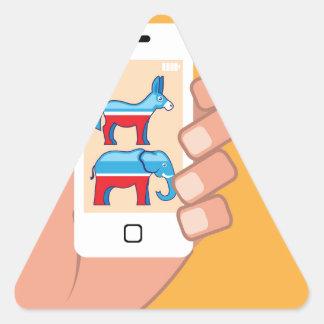 Republican Democrat Smartphone Triangle Sticker