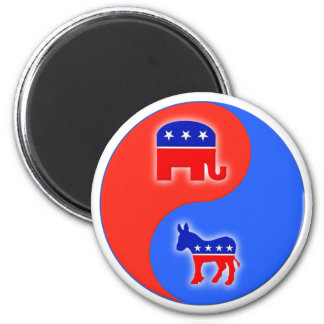 Republican/Democrat Yin/Yang Magnet