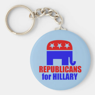 Republican Elephant for Hillary Clinton Keychain