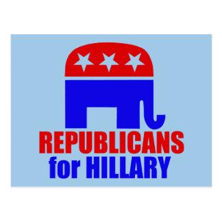 Republican Elephant for Hillary Clinton Postcard