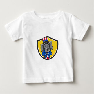 Republican Elephant Mascot Arms Crossed Shield Car Baby T-Shirt