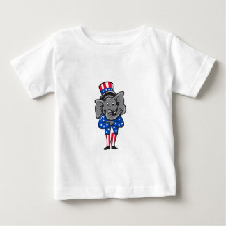 Republican Elephant Mascot Arms Crossed Standing C Baby T-Shirt
