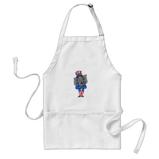Republican Elephant Mascot Arms Crossed Standing C Standard Apron