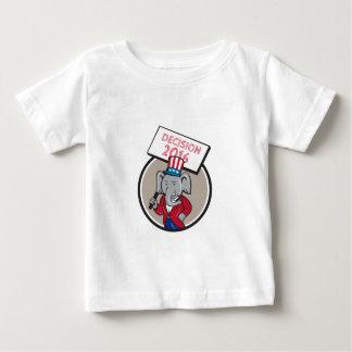 Republican Elephant Mascot Decision 2016 Circle Ca Baby T-Shirt