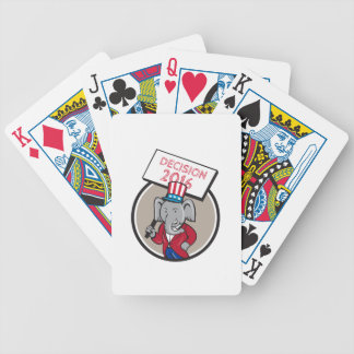 Republican Elephant Mascot Decision 2016 Circle Ca Bicycle Playing Cards