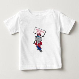 Republican Elephant Mascot Decision 2016 Placard C Baby T-Shirt