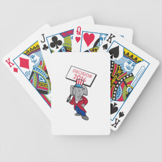 Republican Elephant Mascot Decision 2016 Placard C Bicycle Playing Cards
